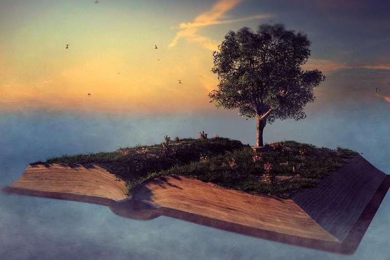Metaphysik Buch mit Baum